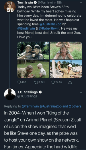 He instilled a love and awe for animals in all of us (via /r/BlackPeopleTwitter): He instilled a love and awe for animals in all of us (via /r/BlackPeopleTwitter)