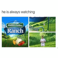 "Saying ""That's too much dressing"": he is always watching  Hidden Valley  THE ORIGINAL  A Ranch Saying ""That's too much dressing"""