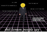 "Funny, Meme, and Reddit: he is dead  Trust the empty one  everyone will be consumed but us  meme man is still funny haha  the text is banned for the limes  rtn  iteratu  forgiveness is a sin  hit lemon people say <p>[<a href=""https://www.reddit.com/r/surrealmemes/comments/7tfl96/do_not_trust_them/"">Src</a>]</p>"