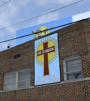 Church, Meme, and Wholesome: HE IS RISEN  TOLEDO GRACE  BRETHREN CHURCH Behold yet again, a meme dump, save a few wholesome items