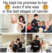 America, Friends, and Memes: He kept his promise to her  even if she was  in the last stages of cancer No words!! - (Repost @veteranownedworld) - - DOUBLE TAP 🚹 TAG your friends 🆘 DM your Pics-Vids 📡 Check My IG Stories 💥Check the link in Bio 👉@veterancollection 🔥Follow us @veterancollection - 🇺🇸🇺🇸🇺🇸🇺🇸🇺🇸🇺🇸🇺🇸🇺🇸 - usarmy armylife usnavyseal navylife usarmy militarylife militarylove usmilitaryacademy navylife usmilitary veteran veterans supportthetroops supportourveterans america goarmy usmilitary usnavy USMC USCG usmarines armedforces semperfi AirForce usairforce hooah Oorah armystrong infantry activeduty supportourtroops usarmedforces