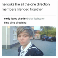 Charlie, Molly, and One Direction: he looks like all the one direction  members blended together  molly loves charlie @charlieeheaton  bing bing bing bing  勿 hi