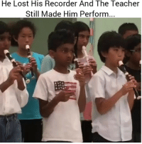 Ayeee: He Lost His Recorder And The Teacher  Still Made Him Perform Ayeee