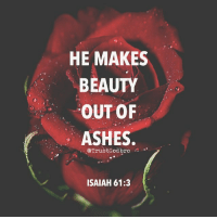 "Memes, Spirit, and Despair: HE MAKES  BEAUTY  OUT OF  ASHES  @TrustGod bro  ISAIAH 61:3 ""and provide for those who grieve in Zion— to bestow on them a crown of beauty instead of ashes, the oil of joy instead of mourning, and a garment of praise instead of a spirit of despair. They will be called oaks of righteousness, a planting of the LORD for the display of his splendor."" ‭‭Isaiah‬ ‭61:3‬"