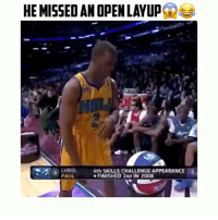 Chris Paul, Memes, and 🤖: HE MISSED AN OPENLAYUP  CHRIS  4th SKILL5 CHALLENGE APPEARANCE  PAUL  FINISHED 2nd IN 2008 Chris Paul 😂🎄 Follow @crazyfilm for more 🚀😁 ( via @bestofmixes )