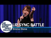 Friday, Emma Stone, and Cool: HE  OIGHT LIP SYNC BATTLE  SHOW  JIMMY  FALLO  Emma Stone <p>Uh guys, it&rsquo;s Friday! You made it to the weekend! Celebrate with a little Emma Stone Lip Sync battle, it just crossed 21 MILLION views! Too cool! - Marina</p>