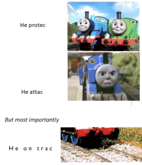 "Http, Trac, and Via: He protec  He attac  But most importantly  He on trac <p>H E O N T R A C via /r/wholesomememes <a href=""http://ift.tt/2wxFKO2"">http://ift.tt/2wxFKO2</a></p>"