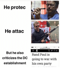 Irs, Memes, and Party: He protec  IRS  He attac  woshingtonexaminer.com  Qyfin  But he also  criticizes the DO  establishment  Rand Paul is  going to war with  his own party - 📊Partners📊 🗽 @nathangarza101 🗽 @givemeliberty_or_givemedeath 🗽 @libertarian_command 🗽 @minarchy 🗽 @radical.rightist 🗽 @minarchistisaacgage860 🗽 @together_we_rise_ 🗽 @natural.law.anarchist 🗽 @1944movement 🗽 @libertarian_cap 🗽 @anti_liberal_memes 🗽 @_capitalist 🗽 @libertarian.christian 🗽 @the_conservative_libertarian 🗽 @libertarian.exceptionalist 🗽 @ancapamerica 🗽 @geared_toward_liberty 🗽 @political13yearold 🗽 @free_market_libertarian35 - 📜tags📜 libertarian freedom politics debate liberty freedom ronpaul randpaul endthefed taxationistheft government anarchy anarchism ancap capitalism minarchy minarchist mincap LP libertarianparty republican democrat constitution 71Republic 71R
