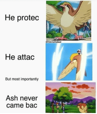 :( - - Leave a Like and follow me for more funny content! I really appreciate it :D -Taggs: Pokémon pokemonsun pokemonmoon meme smashbros ness nintendo switch f4f like: He protec  @Sinnohsteel  He attad  But most importantly  Ash never  came bac :( - - Leave a Like and follow me for more funny content! I really appreciate it :D -Taggs: Pokémon pokemonsun pokemonmoon meme smashbros ness nintendo switch f4f like