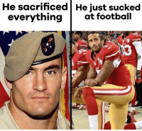Football, Memes, and 🤖: He sacrificed He just sucked  everythingat football Merica.
