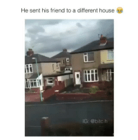 He sent his friend to a different house  IG: @bitc.h he just starts running away 😂😂 follow @okdayum for more! 🔥