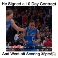 "Memes, 🤖, and Aes: He Signed a 10 Day Contract  AE  POR 101  4th 19.3  EST NBA FR  TIME OUTS: 3  BONUS  And Went off Scoring 32pts!  PA Yogi Ferrell is a Beast!🔥 - Comment ""W"" 3 times! - Follow @wildtapes for more!"