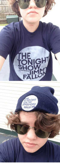 "Head, Target, and Tumblr: HE  TONIGH  SHOW  STARRING  ALLO   HE  SHOW  FALLON <p><a class=""tumblr_blog"" href=""http://jammyfallons.tumblr.com/post/85138243271/i-am-reppin-today"" target=""_blank"">jammyfallons</a>:</p> <blockquote> <p>i am #reppin today</p> </blockquote> <p>Reppin&rsquo; the Tonight Show from head to toe. You rock!</p>"