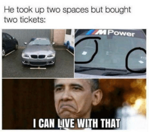 laughoutloud-club:  This is new..: He took up two spaces but bought  two tickets:  MPower  I CAN LIVE WITH THAT laughoutloud-club:  This is new..