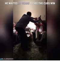 Memes, Cubs, and Waiting...: HE WAITED 81  CLARE MOSER  TO SEE THE CUBS WIN this is incredible :')