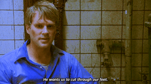 Saw, Tumblr, and Blog: He wants us to cut through our feet. paramud:  midnightmurdershow:  Saw (2004) Directed by James Wan   When you're stuck in a puzzle game and you're running out of ideas  When your stupid brain is so tired that it completely ignores the obvious answer to the situation (CUT THROUGH THE RUSTY PIPE YOU IDIOTS. IF A SAW CAN CUT THROUGH A LEG IT CAN CUT THROUGH A RUSTY PIPE.)