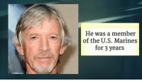 Memes, 🤖, and Silence of the Lambs: He was a member  of the U.S. Marines  for 3 years Scott Glenn from Silence of the Lambs turns 76 today!