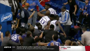 He was going to hit someone with a chair during the Kansas vs Kansas State brawl!  https://t.co/Slj6vpgM7s: He was going to hit someone with a chair during the Kansas vs Kansas State brawl!  https://t.co/Slj6vpgM7s