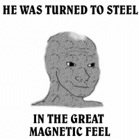 me irl: HE WAS TURNED TO STEEL  IN THE GREAT  MAGNETIC FEEL me irl
