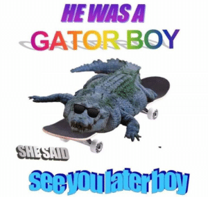 Boy, Wasa, and  Gator: HE WASA  GATOR BOY  SHESAID