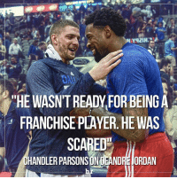 """@chandlerparsons rips @deandrejordan6 after he spurns the @dallasmavs for the @laclippers 😁: """"HE WASINTREADY FORBEINGA  FRANCHISE PLAYER HE WAS  SCAREDg  HANDLER PARSONSONDEANDRE JORDAN @chandlerparsons rips @deandrejordan6 after he spurns the @dallasmavs for the @laclippers 😁"""
