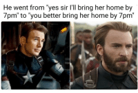 """marvel-lous-things:  marvel-lous-things:I mean it's true  I know I'm op but this post is cancelled bye: He went from """"yes sir l'll bring her home by  7pm"""" to """"you better bring her home by 7pm"""" marvel-lous-things:  marvel-lous-things:I mean it's true  I know I'm op but this post is cancelled bye"""
