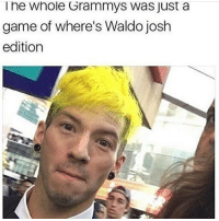 Waldo: he Whole Grammys Was Just a  game of where's Waldo josh  edition