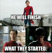 """Definitely, Memes, and Spider: HE WILL FINISH  WHAT THEY STARTED. I'm a huge DC guy, but Spider-Man is my 3rd favorite superhero. He's the only superhero I ever truly related to. Hell I was a Spider-Man fan before I was a Superman fan. The trailer that dropped last night brought a huge smile to my face. It reminded me of the Spider-Man I grew up with. I will always love Tobey and Andrew's take, but Tom looks like he truly captures the essence of who the character is. I didn't really want to use the word """"definitive"""", but Spider-Man: Homecoming looks like it's gonna be the definitive Spider-Man movie. -J'onn"""