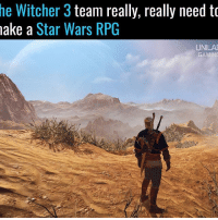 Memes, 🤖, and Witcher: he Witcher 3  team really, really need to  make a  Star Wars RPG  UNILAI  GAMING It'd be amazing 🙌