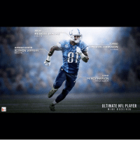HEAD  REGGIE WAYNE  COLTS  ARMS/HANDS  ALSHON JEFFERY  BEARS  TORSO  CALVIN JOHNSON  LIONS  LEGS  PERCY HARVIN  SEAHAWKS  ULTIMATE NFL PLAYER  WIDE RECEIVER Taking parts from the NFL's top wideouts to build the perfect WR.