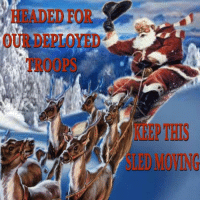 Memes, Travel, and Military: HEADED FOR MERRY CHRISTMAS!! ...to our military who won't be home for the holidays. Lets see how far we can make this travel...