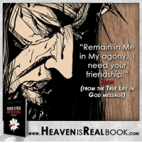 """Jesus needs you! http://www.tlig.org/en/messages/1149/: HEAEN ISREAL  """"Remain in Me  in need your  agony,  friendship.  (FROM THE TRUE LIFE IN  GoD MESSAGE)  HEAVEN ISREAL Book  .COM Jesus needs you! http://www.tlig.org/en/messages/1149/"""
