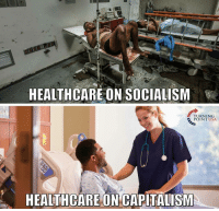 HEALTHCARE ON SOCIALISM  TURNING  POINT USA  HEALTHCARE ON CAPITALISM B-b-but Cuba isn't real socialism