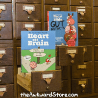 Memes, True, and Brain: Heart  Brain  GUT  d INSTINCT  wkward yet Presents  Heart  and  ADULT  RESPONSIBILITIES  UTTER  NONSENSE  This va  Heart.  theAwkward Store.com Both Heart and Brain collections get signed by me when you order from theAwkwardStore.com! And did you know that each one has dozens of comics never seen online? Yep it's true, you probably need these.