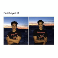 him or the view: heart eyes af him or the view