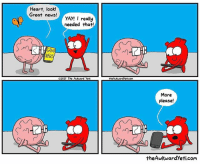 Awkward Yeti, Memes, and News: Heart, look!  Great news!  YAY! I really  needed that!  NEWS  2017 The  d yeti  theAwkMardyeticoMa  More  Please!  the Awkward yeti.com Never enough