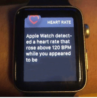 """Apple, Apple Watch, and Meme: HEART RATE  Apple Watch detect-  ed a heart rate that  rose above 120 BPM  while you appeared  to be <p>empty trending meme for your edit purposes via /r/MemeEconomy <a href=""""http://ift.tt/2mK2EMz"""">http://ift.tt/2mK2EMz</a></p>"""