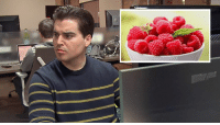 Dank, 🤖, and Man: Heartbreaking: This Man Smells The Raspberries But Cannot Find Them