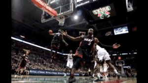 @MiamiHEAT Did you know the play in the iconic photo of Dwyane Wade and LeBron was not an alley-oop dunk?   https://t.co/T5FaTw9miO: HEAT @MiamiHEAT Did you know the play in the iconic photo of Dwyane Wade and LeBron was not an alley-oop dunk?   https://t.co/T5FaTw9miO