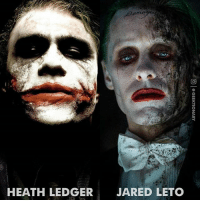 Whose performance did you like the most? Follow me on @geektionary for more edits!: HEATH LEDGER  JARED LETO Whose performance did you like the most? Follow me on @geektionary for more edits!