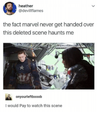 I don't care, I'll just go to sleep steverogers buckybarnes marvel: heather  @devillflames  the fact marvel never get handed over  this deleted scene haunts me  onyourleftbooob  I would Pay to watch this scene I don't care, I'll just go to sleep steverogers buckybarnes marvel