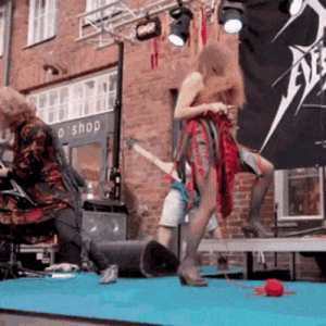 Heavy metal knitting competition in Finland: Heavy metal knitting competition in Finland