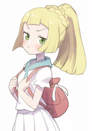 Heh, now have some pouty Lillie. >w>  I think she's upset that the new trainer is getting all the attention now. :p: Heh, now have some pouty Lillie. >w>  I think she's upset that the new trainer is getting all the attention now. :p