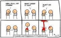 By Kris. Tag a weird friend. What makes them weird?: HEH, PULL MY  WHAT DOES  SU5T DO  FINGER  IT DOP  IT  Cyanide and Happiness  Explosm.net  l By Kris. Tag a weird friend. What makes them weird?