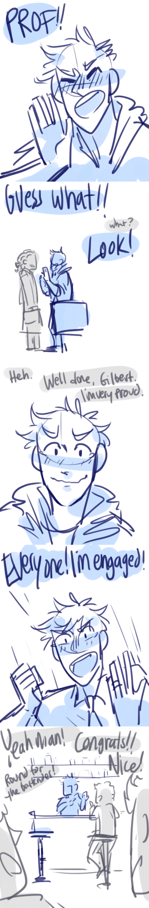 Target, Tumblr, and Blog: Heh  Well Jone, Gled ask-art-student-prussia:  Gil yells at the whole bar about his cool new ring