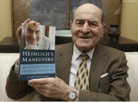 Dr. Henry Heimlich, the surgeon who created the life-saving Heimlich maneuver for choking victims, died early Saturday at Christ Hospital in Cincinnati. He was 96.: HEIMLICH S  MANEUVER  MY SEVENTY YEARS OF  LIFESAVING INNOVATION  HENRY HEIMLICH, MD  AP Photo/Al Behrman Dr. Henry Heimlich, the surgeon who created the life-saving Heimlich maneuver for choking victims, died early Saturday at Christ Hospital in Cincinnati. He was 96.