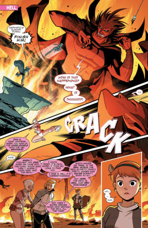 symbisexual-disaster-rises: anothercomicreader: Gotta admit, that's quite a solid point this is the cutest team up?? : HELL.  MEPHISTO'S  ALMOST  DOWN!  FINISH  HIM!  HOW IS THIS  HAPPENING?  WHAT  Is  THilliiis?!  SACK  THIS IS  WHAT HAPPENS  WHEN YOU PAIR UP  THE UNBELIEVABLE  WITH THE UN-  BEATABLE!  NICE  GWEN!I  THOUGHT YOU DIED  WHEN WE CAME INTO  I KNOW,  TEDDY. IT'S OKAY.  WHICH MAKES  ME THINK. IN THE  REAL WORLD, THE  DEVIL IS PRETTY CRAFTY,  PRETTY HIDDEN AND  MAYBE DOESN'T  EXIST AT ALL  THE COMIC BOOK! AND SORRY IT TOOK SO  LONG TO FIND  YOU  THEN I GUESS I  KINDA DIED. AND  THE DEVIL  I WAS IN HELL. IT'S  UNDERSTANDABLE  BUT HERE,  THE DEVIL Is  REAL. AND VERY  PUNCHABLE.  es  UH...  HUH  WHY AREN'T  SUPER HEROES  DOWN HERE BEATING  THE DEVIL ALL  THE TIME? symbisexual-disaster-rises: anothercomicreader: Gotta admit, that's quite a solid point this is the cutest team up??