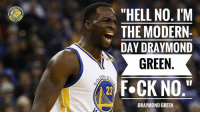 "They asked Dray if he thought he was the modern-day Charles Barkley. 🗣🗣🗣: ""HELL NO. I'M  THE MODERN-  DAY DRAYMOND  NIT GREEN  DEN s  F.CK NO  DRAYMOND GREEN They asked Dray if he thought he was the modern-day Charles Barkley. 🗣🗣🗣"
