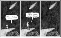 Hello, Life, and Http: Hello aain,  Halley's Comet  HHaly's  Come Life goes on. http://t.co/3QHPUHUD94