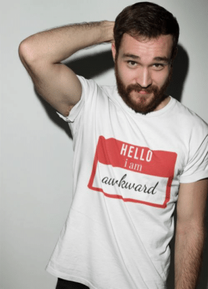 cool-shirts:    Hello I Am Awkward Name Tag T-Shirt: HELLO  i am  awkward cool-shirts:    Hello I Am Awkward Name Tag T-Shirt